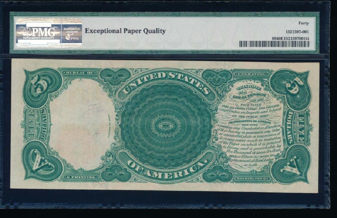 1907 $5 Legal Tender Note PMG 40 EPQ - 2