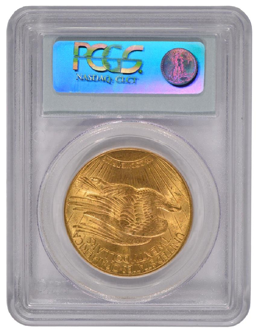 1913 $20 Saint Gaudens Double Eagle Gold Coin PCGS MS62 - 2