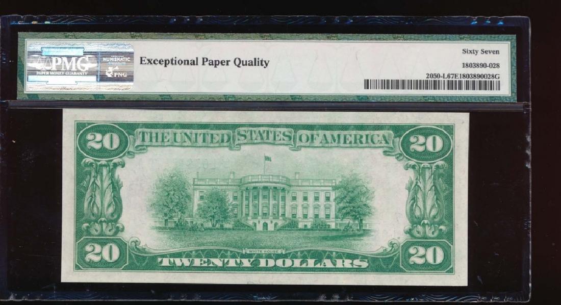 1928 $20 San Francisco Federal Reserve Note PMG 67EPQ - 2