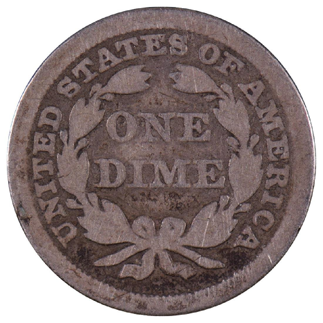 1844 Seated Liberty Dime Coin - 2