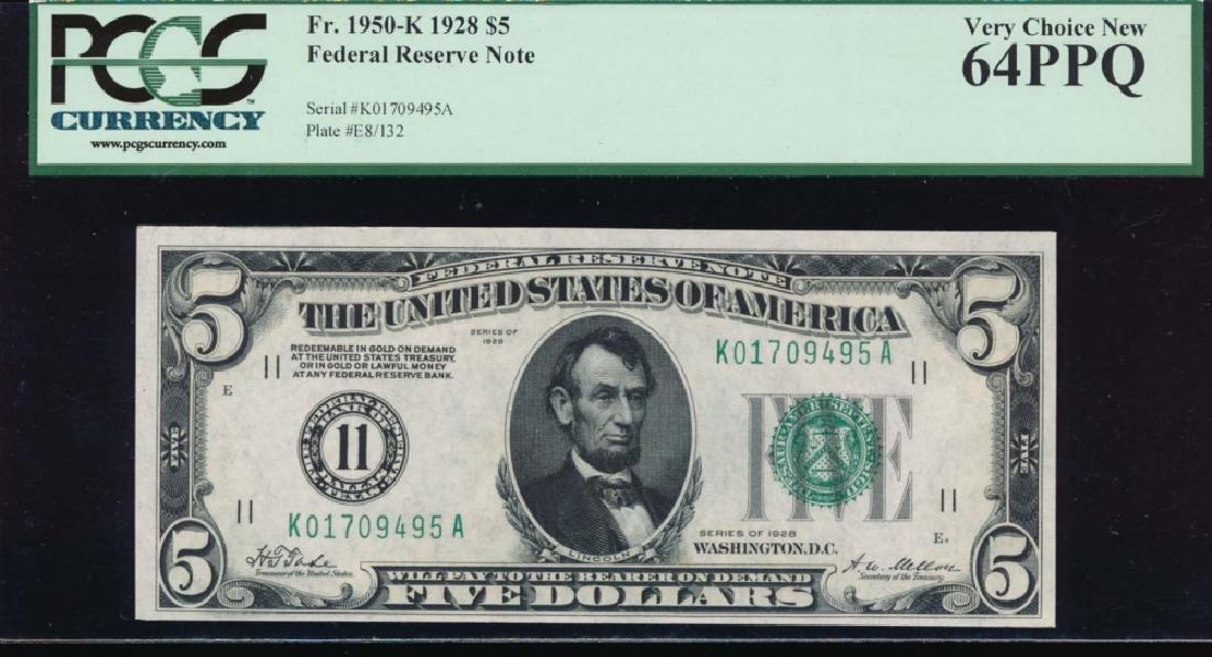 1950K $5 Dallas Federal Reserve Note PCGS 64PPQ