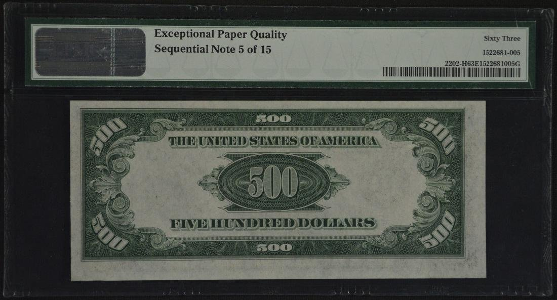 1934A $500 St. Louis Federal Reserve Note PMG 63EPQ - 2