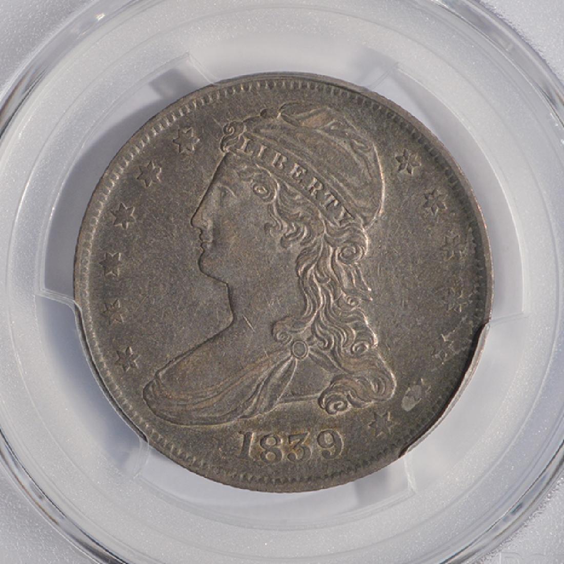 1839 Capped Bust Half Dollar Coin PCGS XF45 - 3