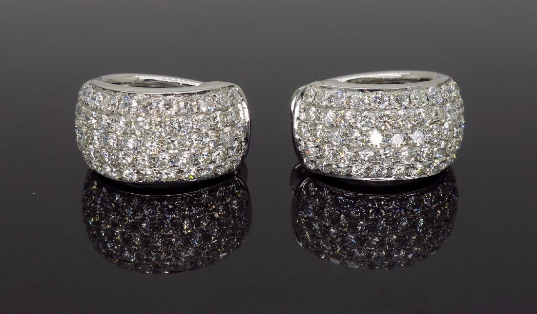 18KT White Gold 3.30ctw Diamond Earrings