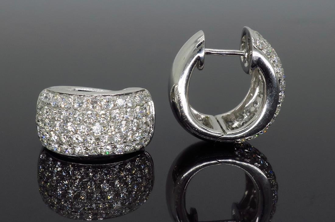 18KT White Gold 3.30ctw Diamond Earrings - 4