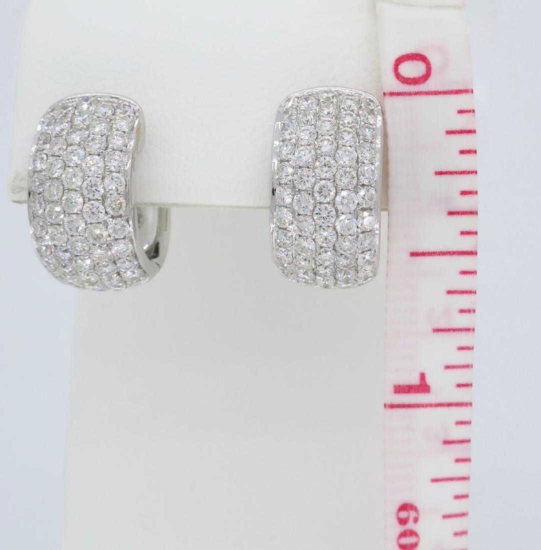 18KT White Gold 3.30ctw Diamond Earrings - 5
