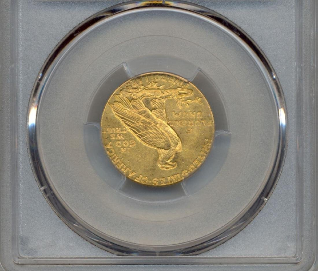 1909 $5 Indian Head Half Eagle Gold Coin PCGS MS62 - 2