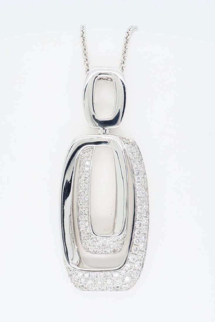 14KT White Gold 0.625ctw Diamond Pendant with Chain
