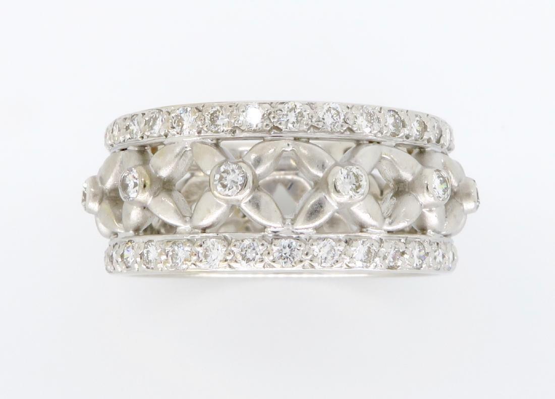 18KT White Gold 1.20ctw Diamond Ring - 2