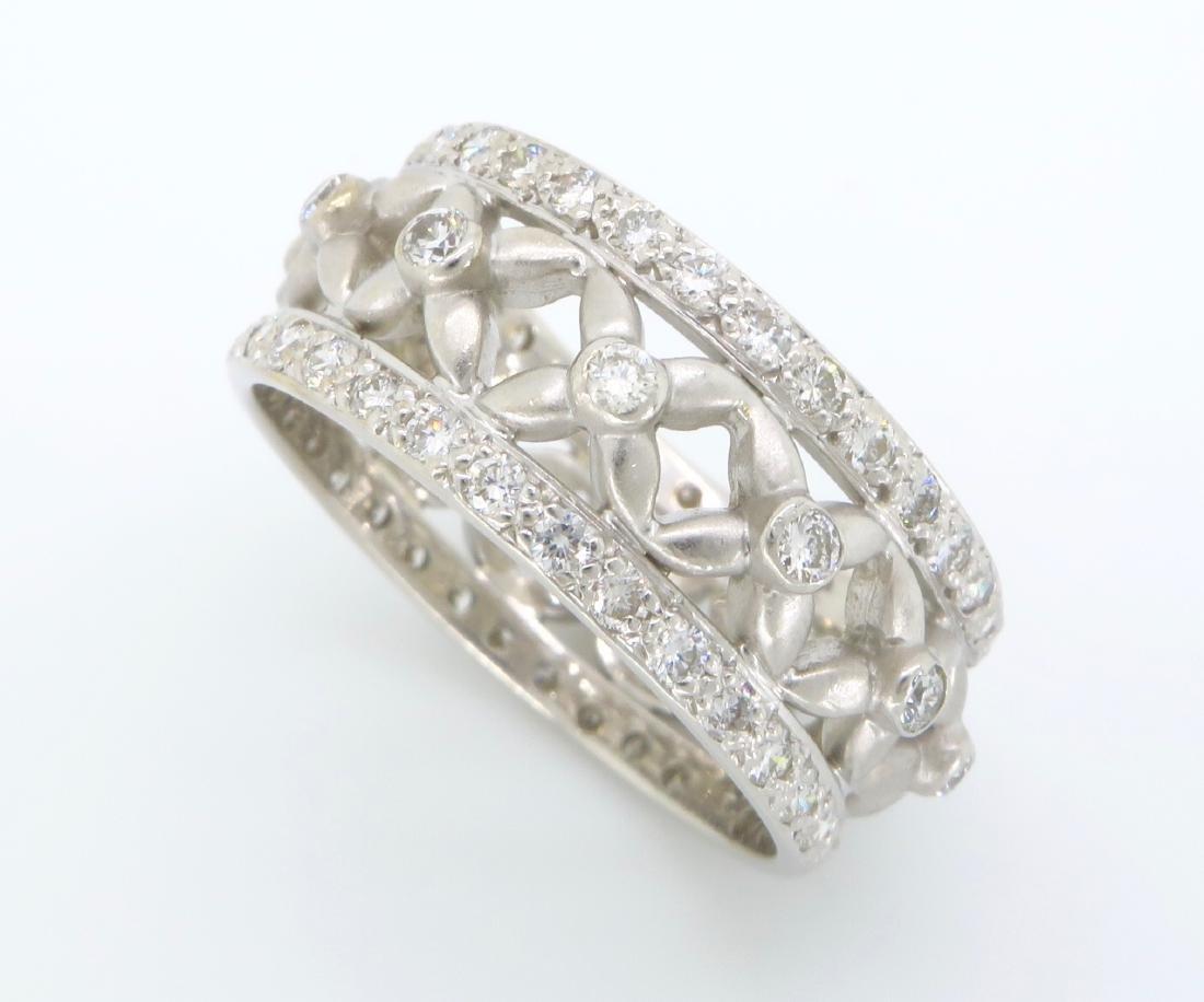 18KT White Gold 1.20ctw Diamond Ring - 3