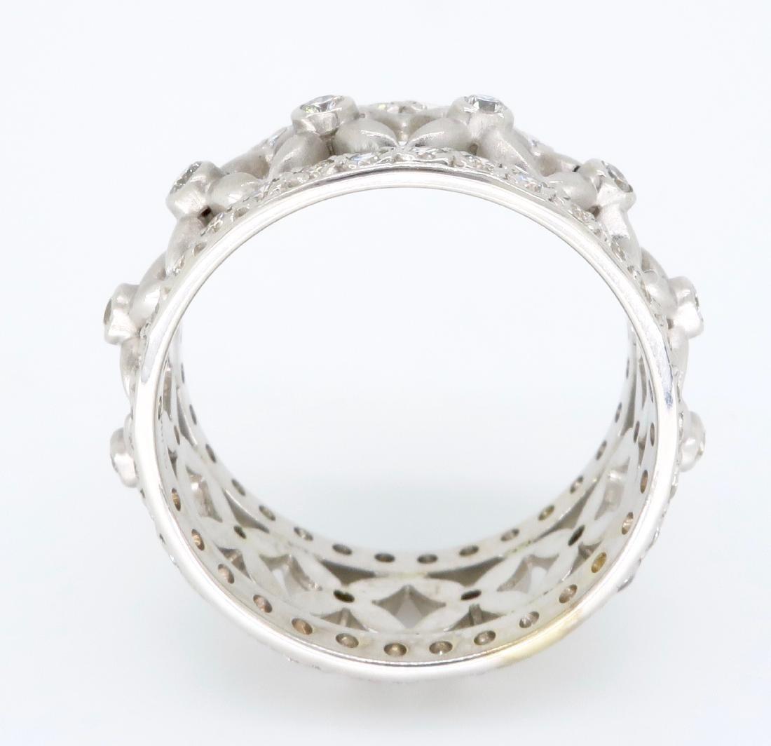 18KT White Gold 1.20ctw Diamond Ring - 5