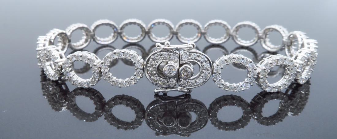 18KT White Gold 4.07ctw Diamond Bracelet - 5