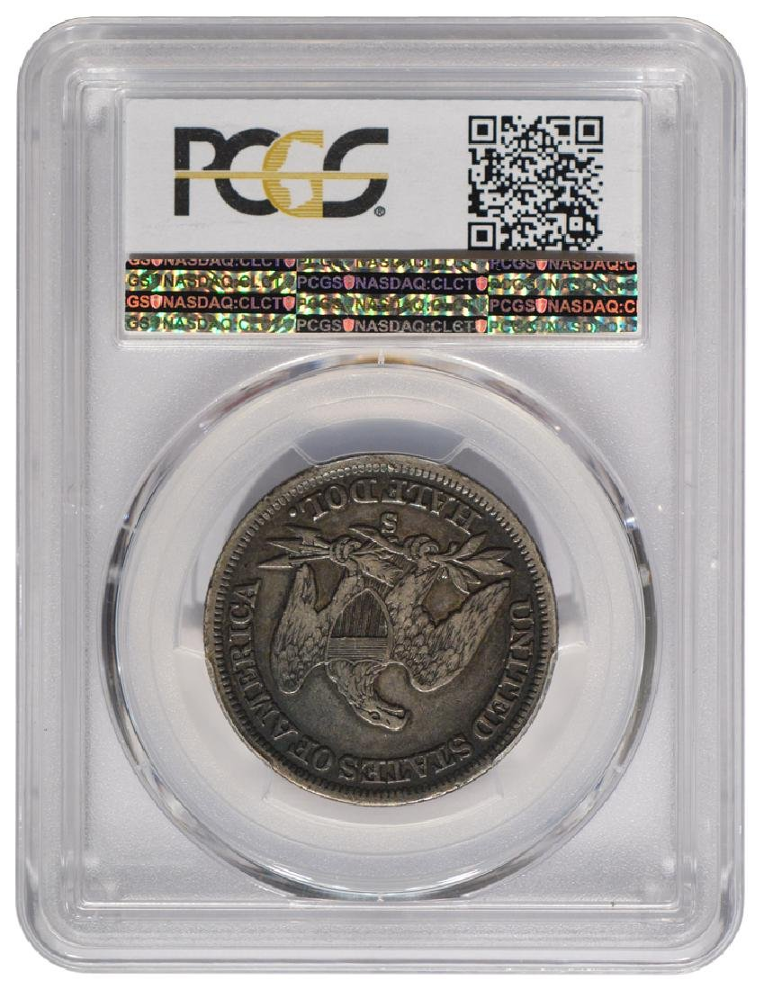 1856-S Liberty Seated Half Dollar Coin PCGS VF25 - 2