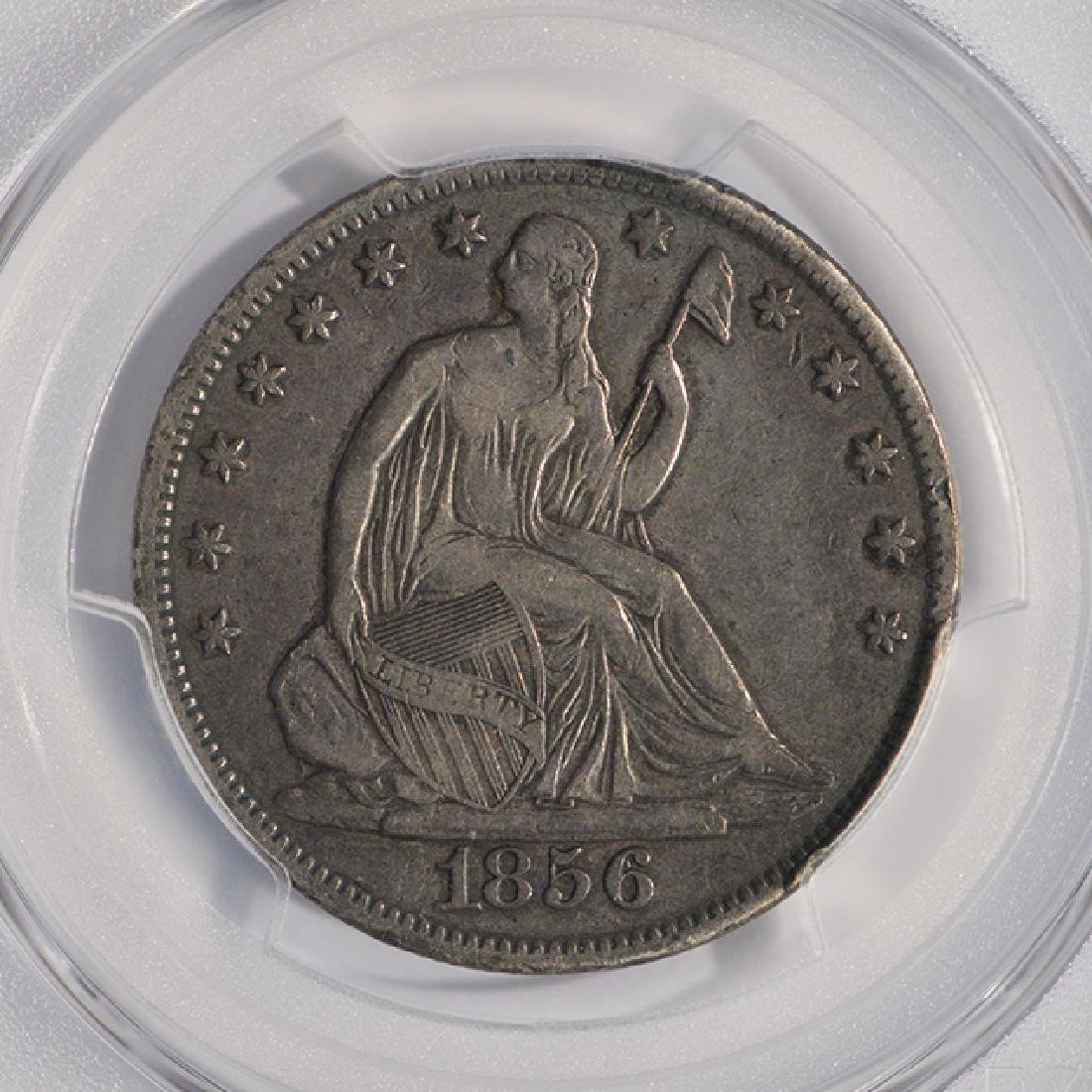 1856-S Liberty Seated Half Dollar Coin PCGS VF25 - 3
