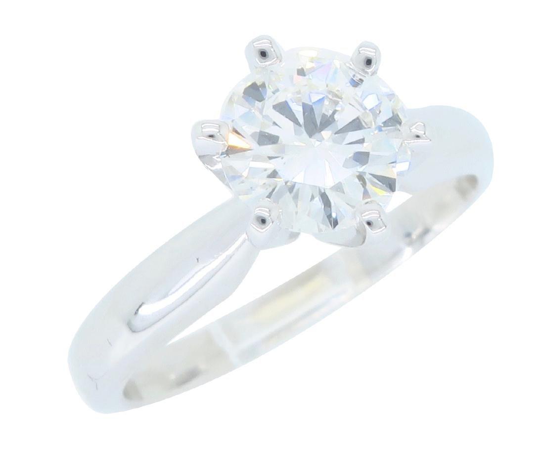 14KT White Gold 0.90ct GIA Cert Diamond Ring - 2