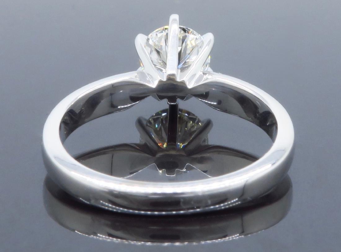 14KT White Gold 0.90ct GIA Cert Diamond Ring - 3
