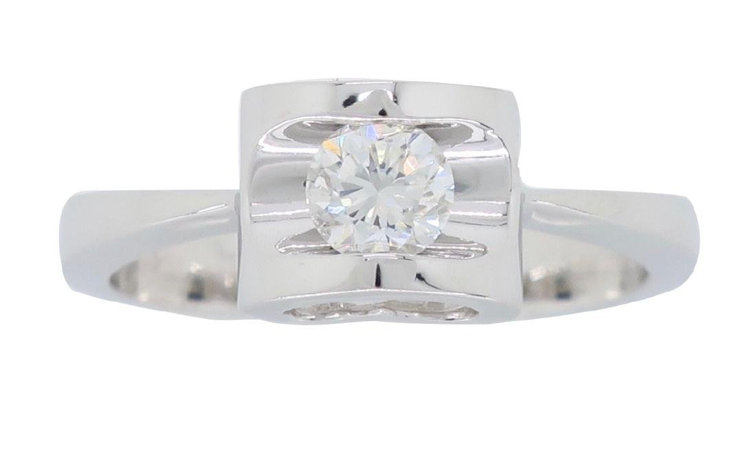 18KT White Gold 0.25ct Diamond Ring