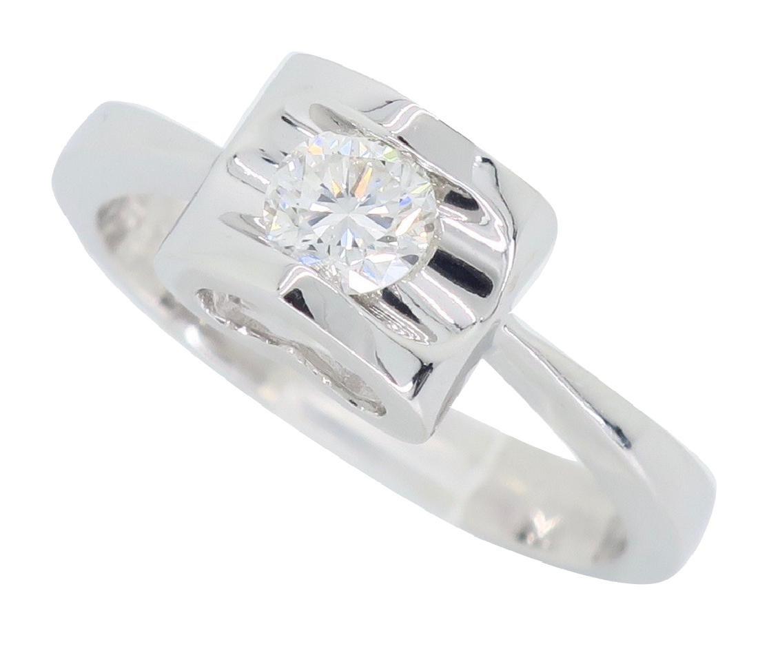 18KT White Gold 0.25ct Diamond Ring - 2