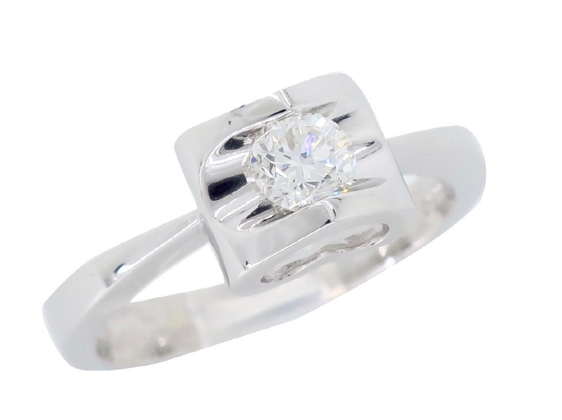 18KT White Gold 0.25ct Diamond Ring - 3