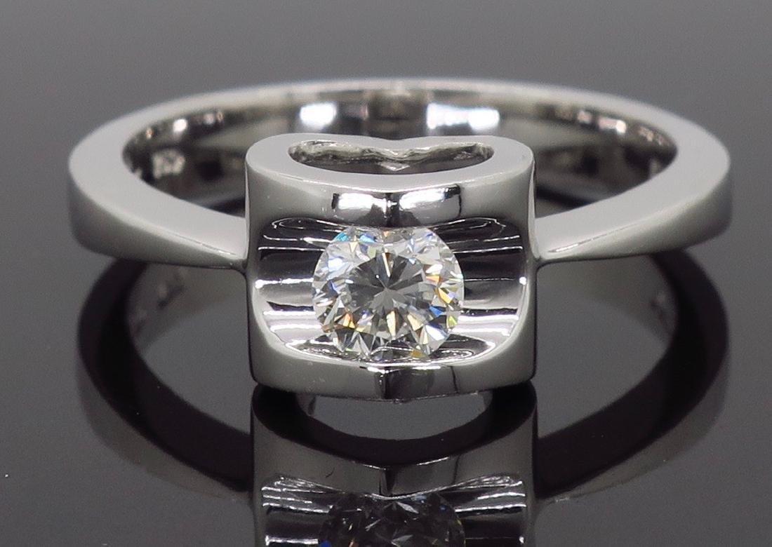 18KT White Gold 0.25ct Diamond Ring - 5