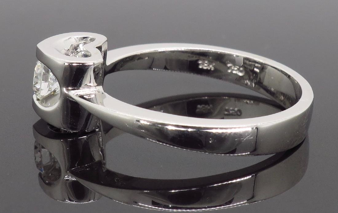 18KT White Gold 0.25ct Diamond Ring - 7