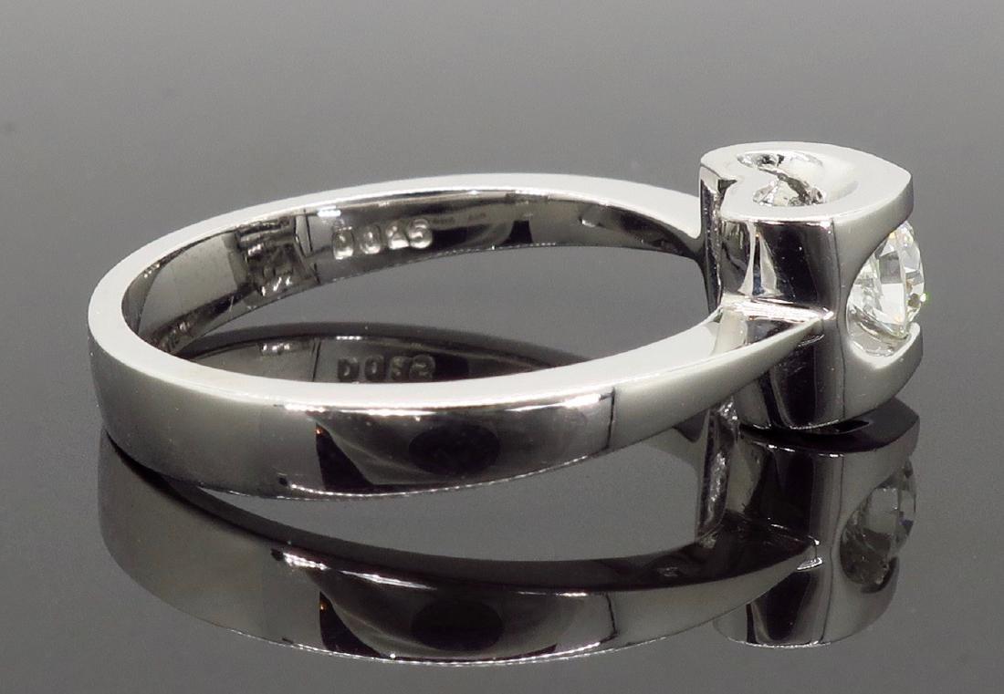 18KT White Gold 0.25ct Diamond Ring - 8
