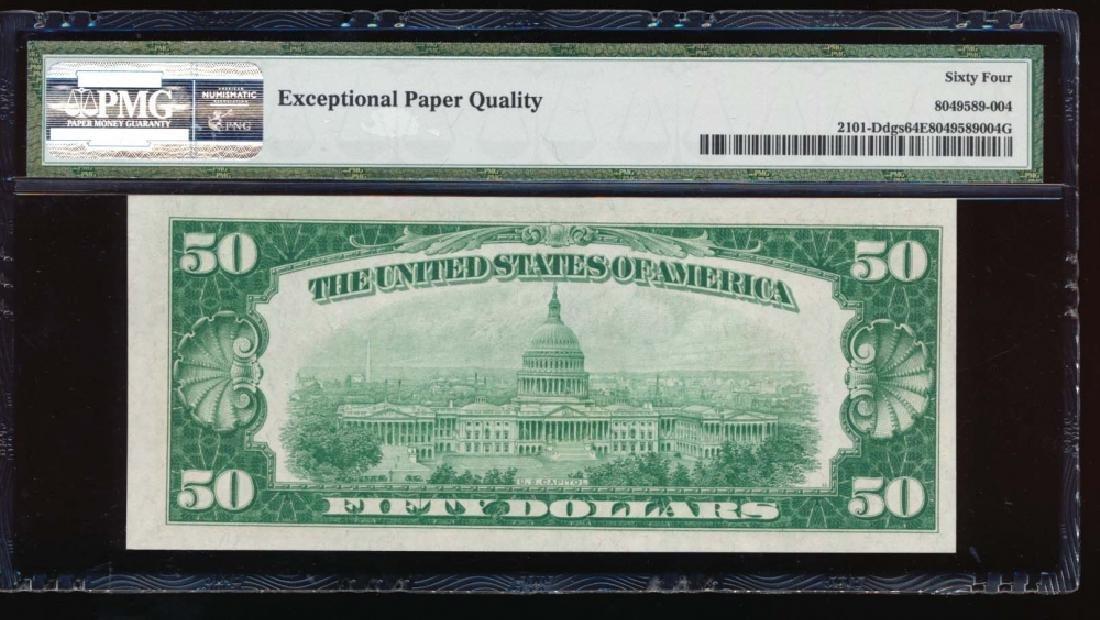 1928A $50 Cleveland Federal Reserve Note PMG 64EPQ - 2