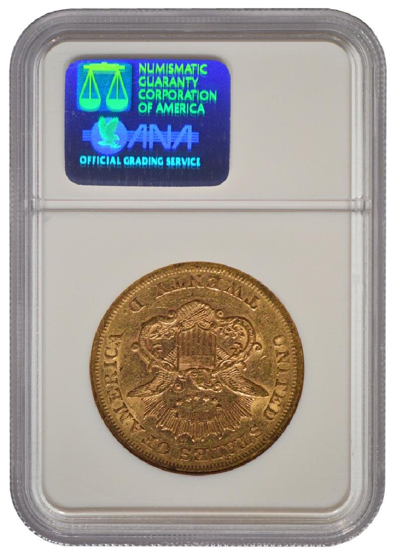 1865 $20 Liberty Head Double Eagle Gold Coin NGC XF45 - 2