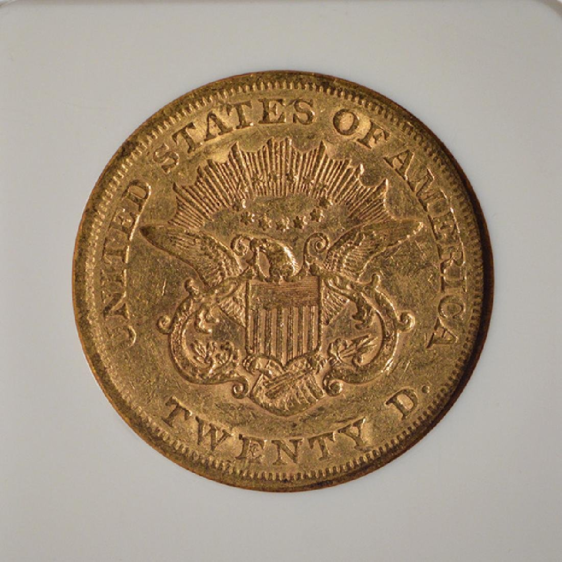 1865 $20 Liberty Head Double Eagle Gold Coin NGC XF45 - 4