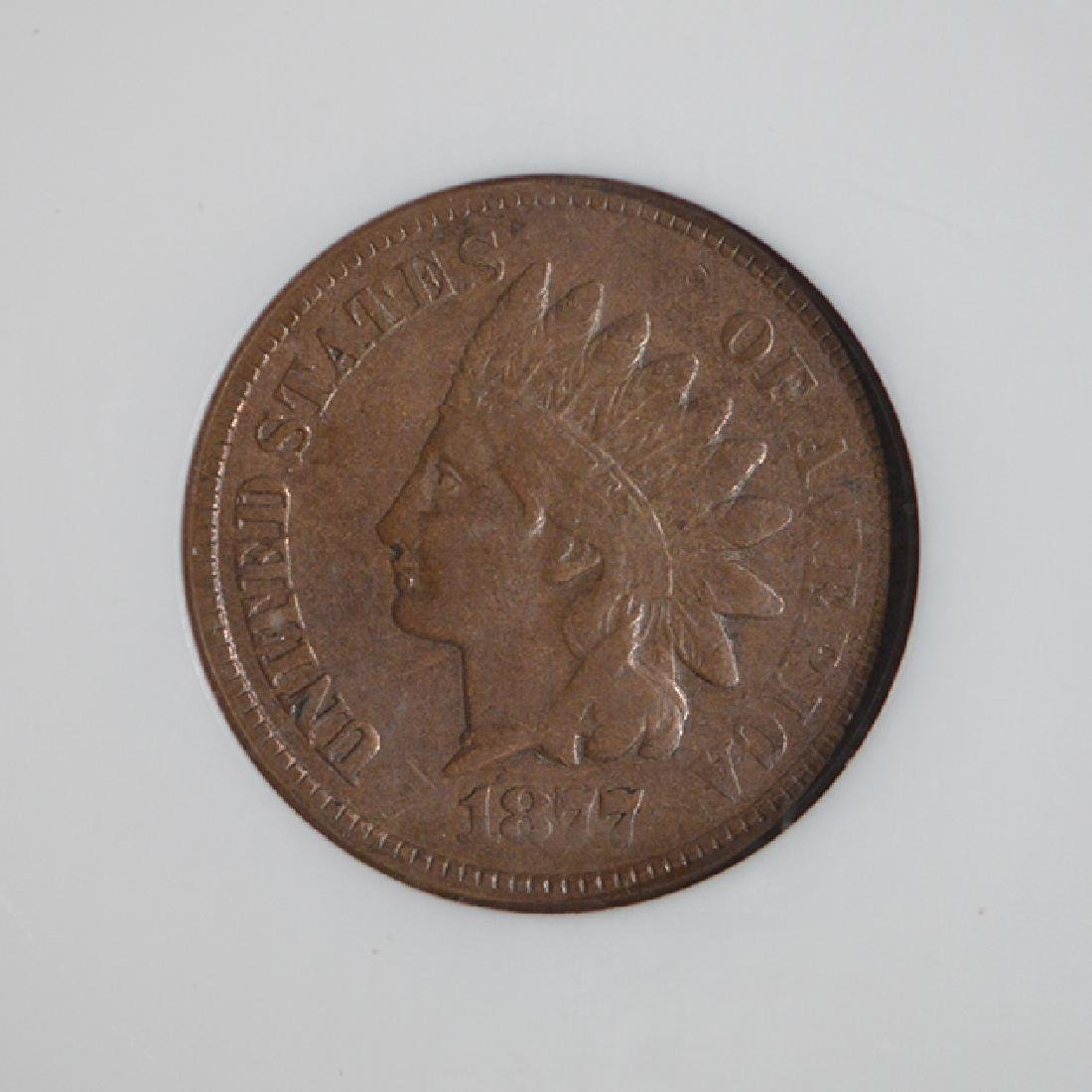 1877 Indian Cent NGC F15BN - 3