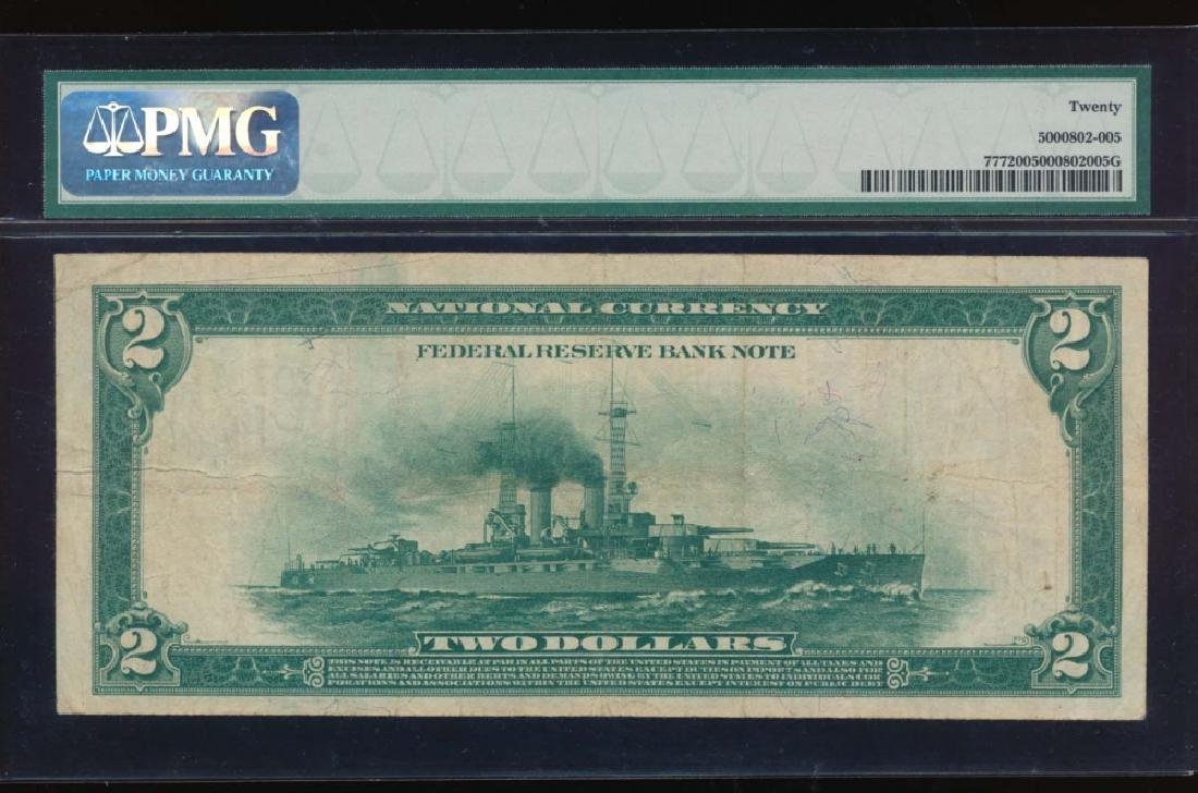 1918 $2 Dallas Federal Reserve Bank Note PMG 20 - 2