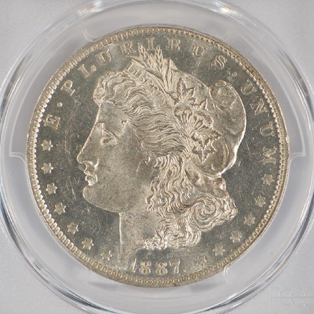 1887-O $1 Morgan Silver Dollar Coin PCGS MS61PL - 3