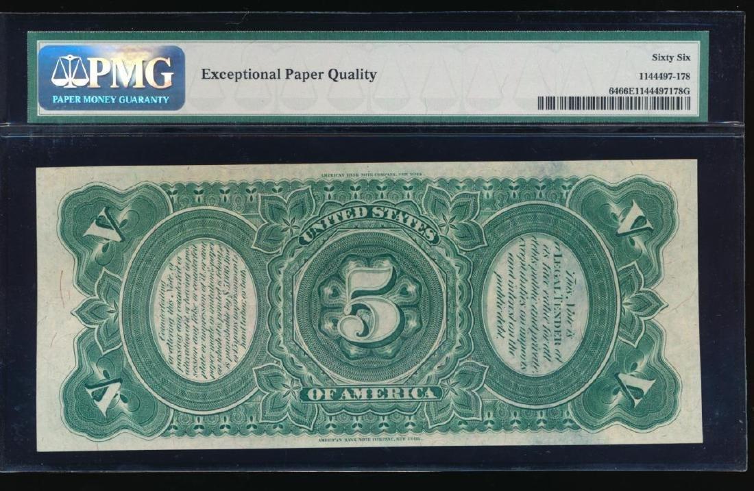 1869 $5 Rainbow Legal Tender Note PMG 66EPQ - 2