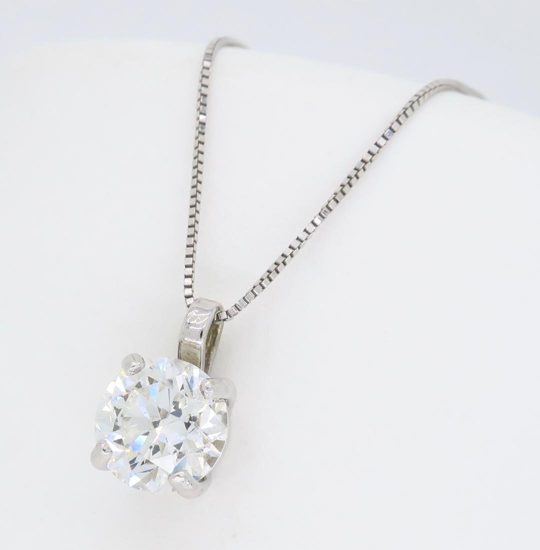 14KT White Gold 1.54ct Diamond Pendant with Chain