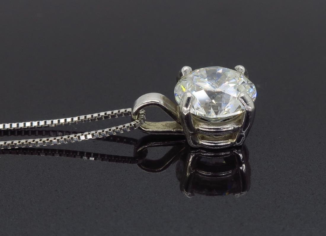 14KT White Gold 1.54ct Diamond Pendant with Chain - 5