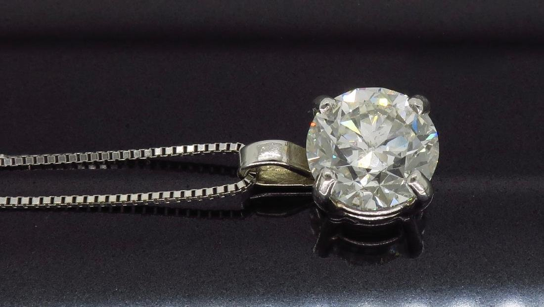 14KT White Gold 1.54ct Diamond Pendant with Chain - 6