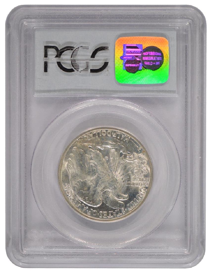 1937-D Walking Liberty Half Dollar Coin PCGS MS65 - 2