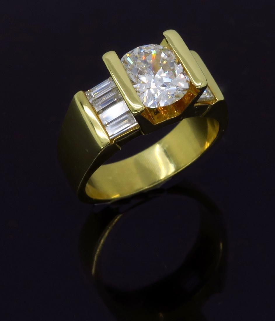 18KT Yellow Gold 2.01ctw Diamond Ring - 10