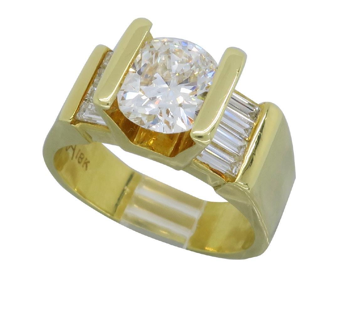 18KT Yellow Gold 2.01ctw Diamond Ring - 2
