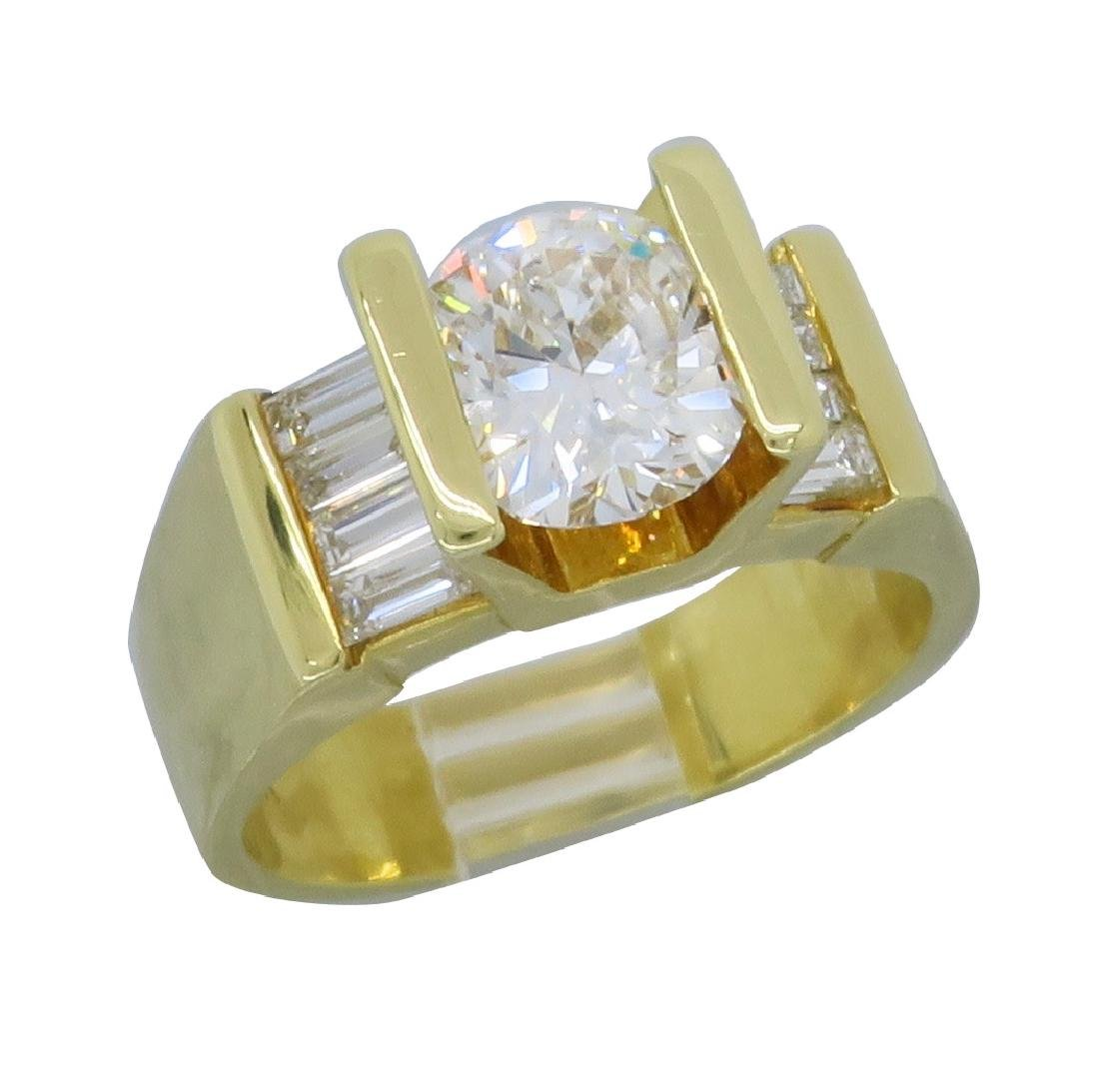 18KT Yellow Gold 2.01ctw Diamond Ring - 3