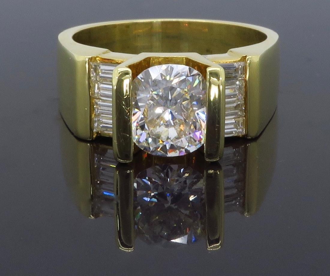 18KT Yellow Gold 2.01ctw Diamond Ring - 5