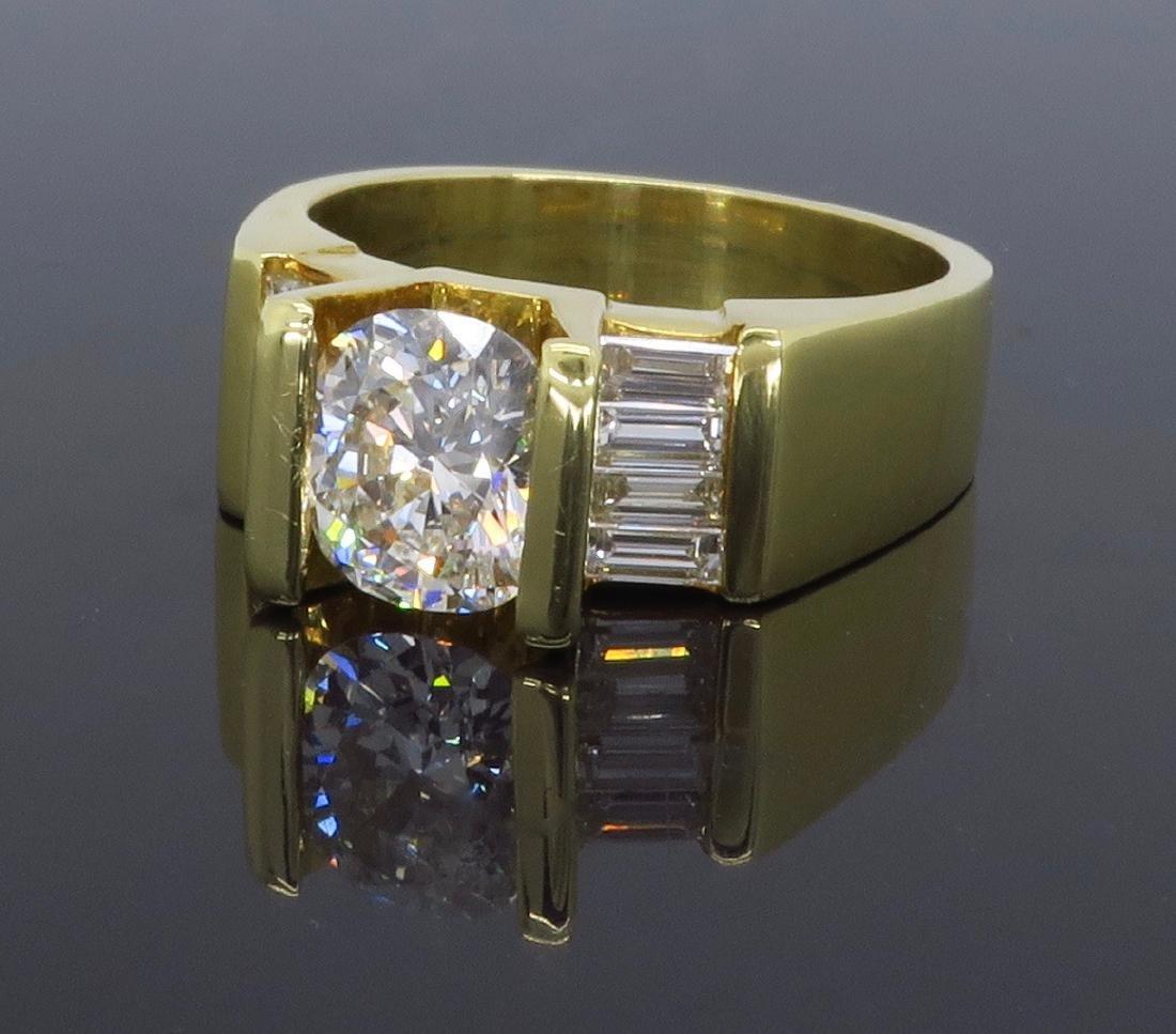 18KT Yellow Gold 2.01ctw Diamond Ring - 6