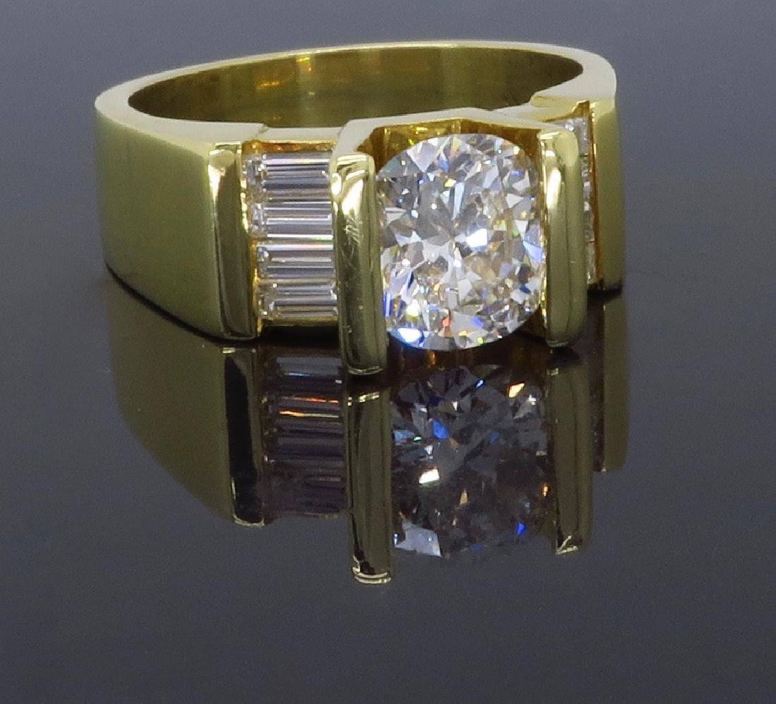 18KT Yellow Gold 2.01ctw Diamond Ring - 7