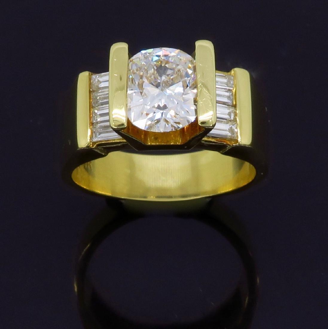 18KT Yellow Gold 2.01ctw Diamond Ring - 8
