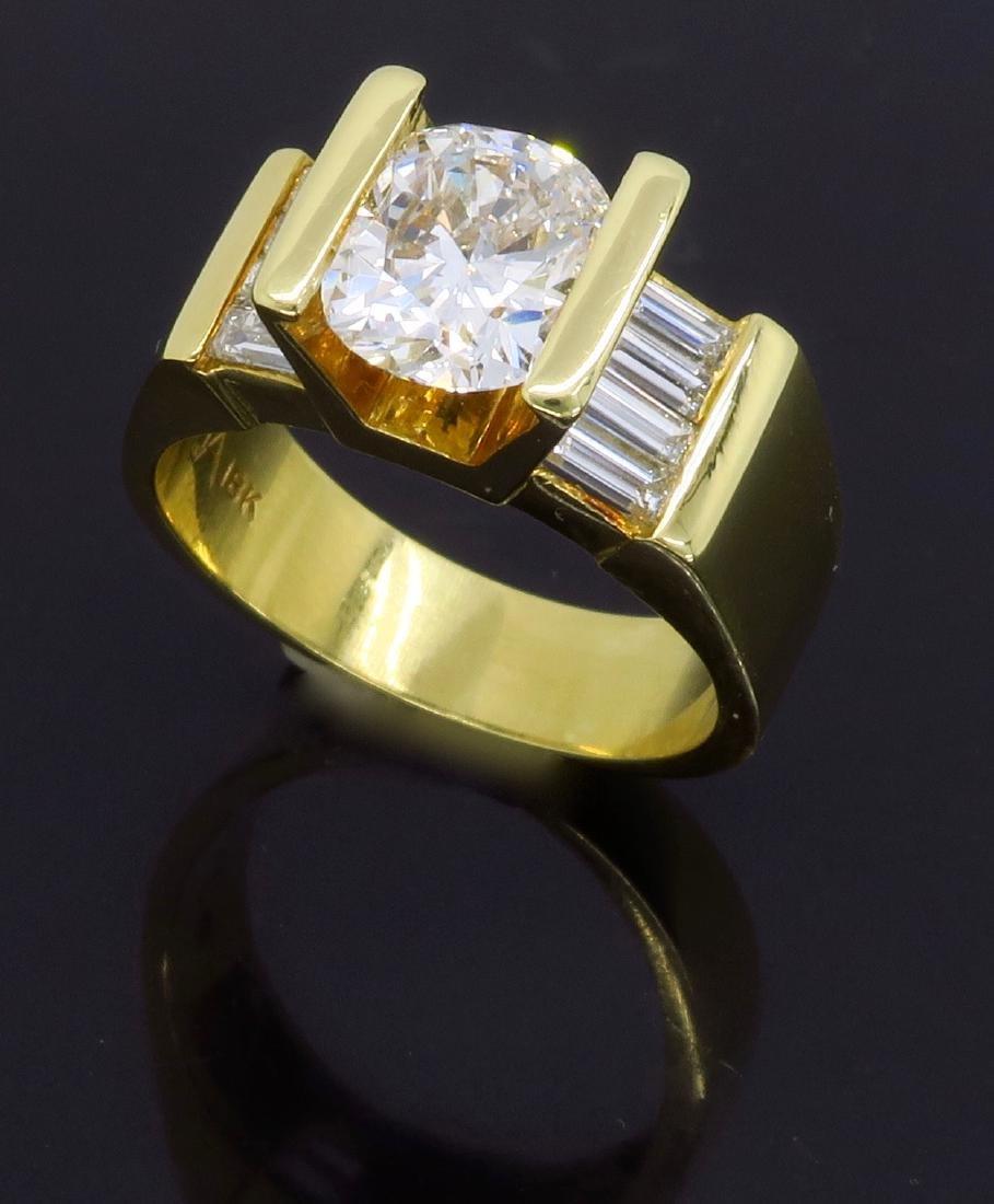 18KT Yellow Gold 2.01ctw Diamond Ring - 9