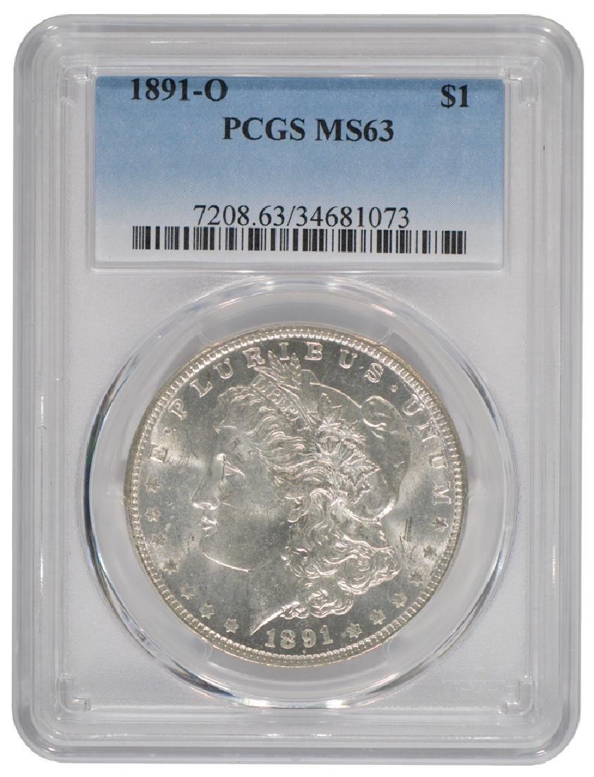 1891-O $1 Morgan Silver Dollar Coin PCGS MS63
