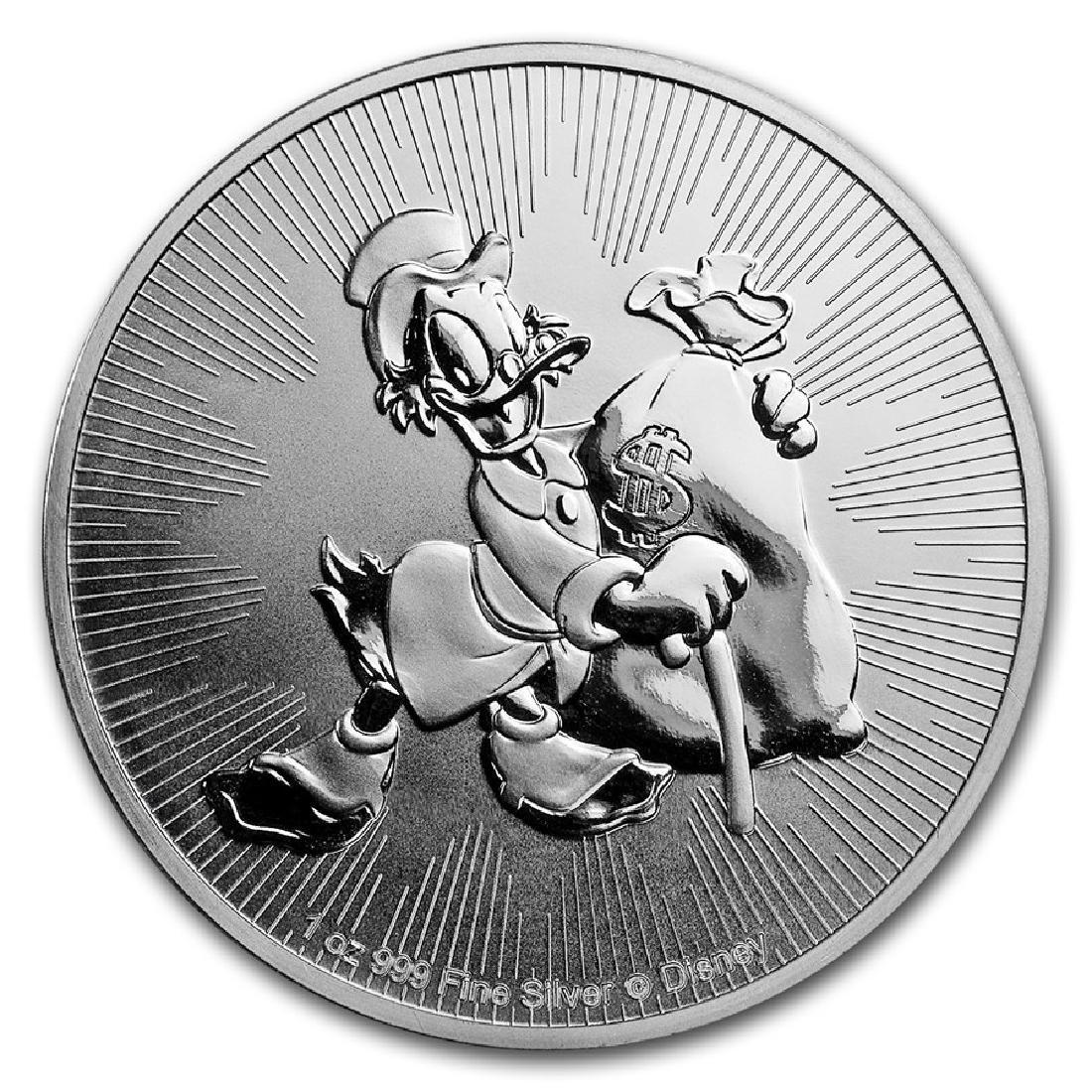 2018 $2 Disney Scrooge McDuck Niue Silver Coin