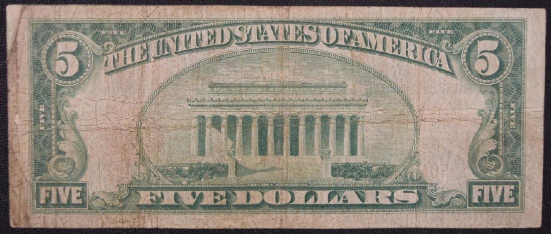 1929 $5 National Bank of Lansing Note - 2