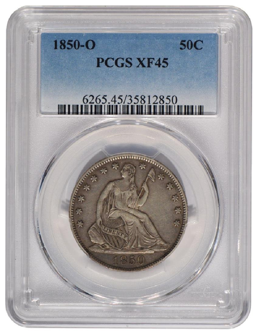 1850-O Seated Liberty Half Dollar Coin PCGS XF45