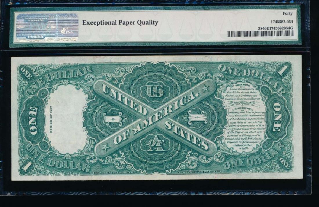 1917 $1 Legal Tender Note PMG 40EPQ - 2
